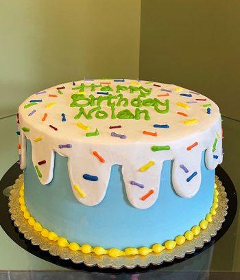 Ice Cream Sprinkle Layer Cake - Blue