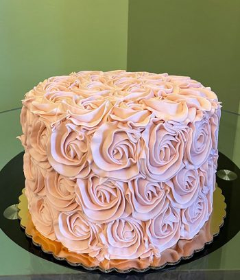 Rosette Layer Cake - Light Pink