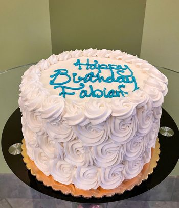 Rosette Layer Cake - White