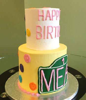 Sesame Street Tiered Cake - Side