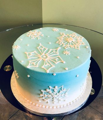 Snowflake Ombre Layer Cake - Top