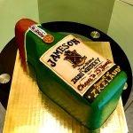 Whiskey Bottle Shaped Cake - Jameson