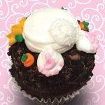 Bunny Bottom Easter Jumbo Filled Cupcake