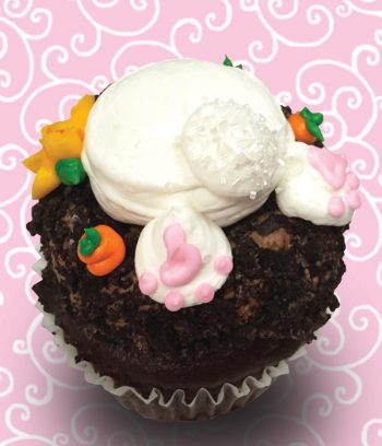 Bunny Bottom Easter Jumbo Filled Cupcake