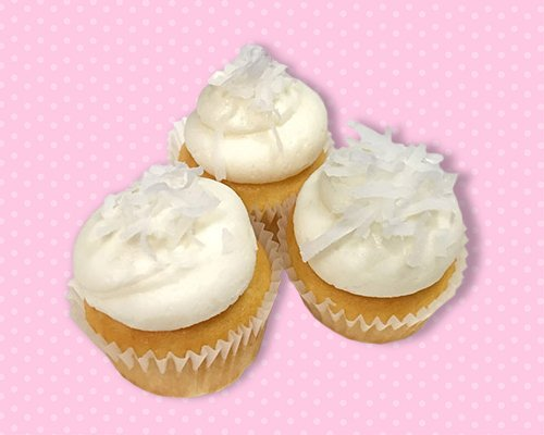 Coconut Cream Mini Cupcake
