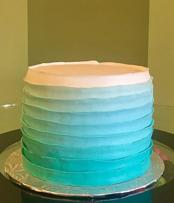 Country Ribbon Ombre Layer Cake - Aqua Blue