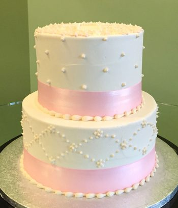Floral Cross Tiered Cake