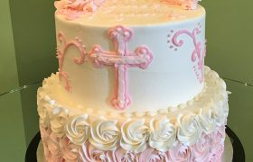 First Communion Tiered Cake
