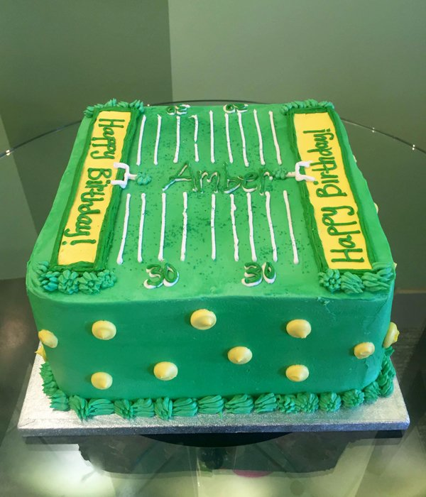 Football Field Layer Cake