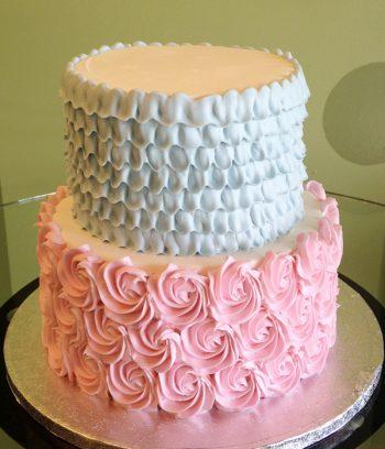 Petra Rosette Tiered Cake