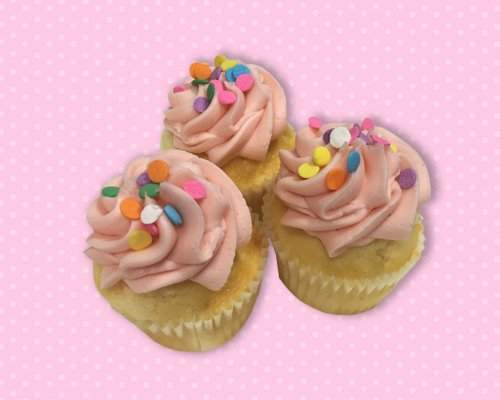 Strawberry Lemonade Mini Cupcake