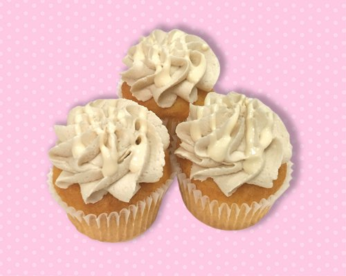 Salted Caramel Vanilla Mini Cupcake