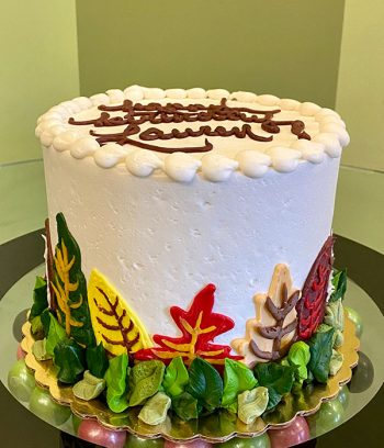 Fall Leaves Layer Cake - Side