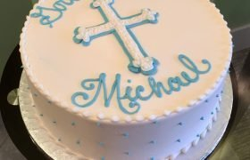 Baptism Layer Cake