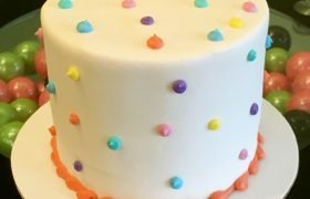Confetti Dot Layer Cake