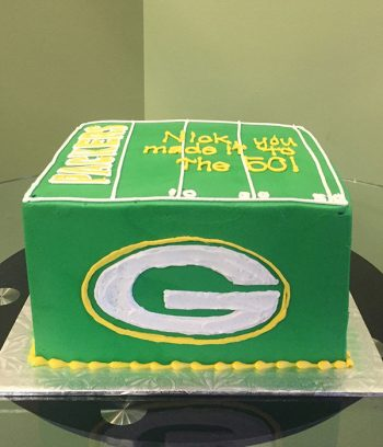 Football Field Layer Cake - Side