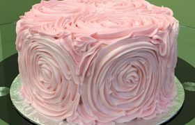 Giant Rosette Layer Cake
