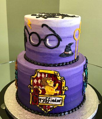Harry Potter Tiered Cake - Gryffindor