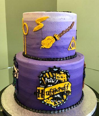Harry Potter Tiered Cake - Huffelpuff