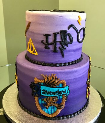 Harry Potter Tiered Cake - Ravenclaw House
