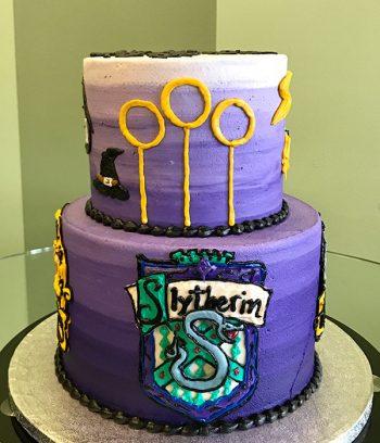 Harry Potter Tiered Cake - Slytherin