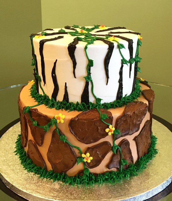 Jungle Print Tiered Cake