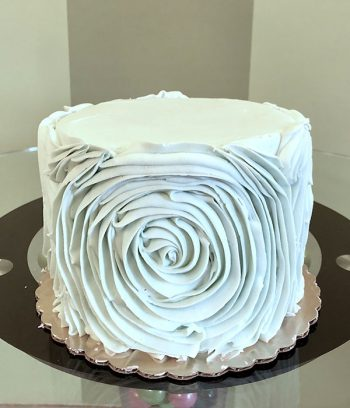 Giant Rosette Layer Cake - Light Blue