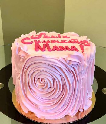 Giant Rosette Layer Cake - Pink