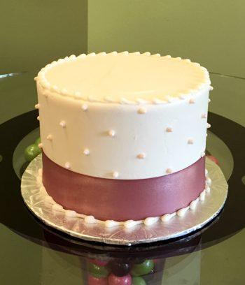 Sugar Pearl Ribbon Layer Cake
