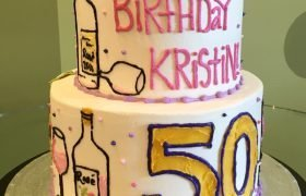 Wine Lover Tiered Cake