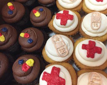 Medical Cupcakes - Chocolate & Vanilla