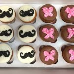 Mustache & Bow Decorated Cupcakes