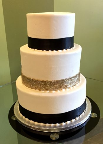 Ribbon Wedding Cake