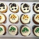 Mushroom Decorated Cupcakes