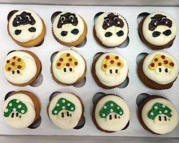 Super Mario Mushroom Cupcakes