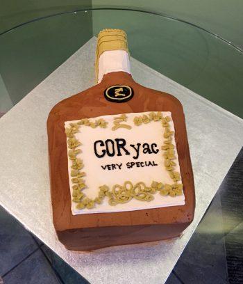 Whiskey Bottle Shaped Cake - Cognac