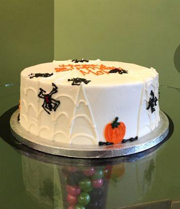 Halloween Spiderweb Layer Cake - Orange
