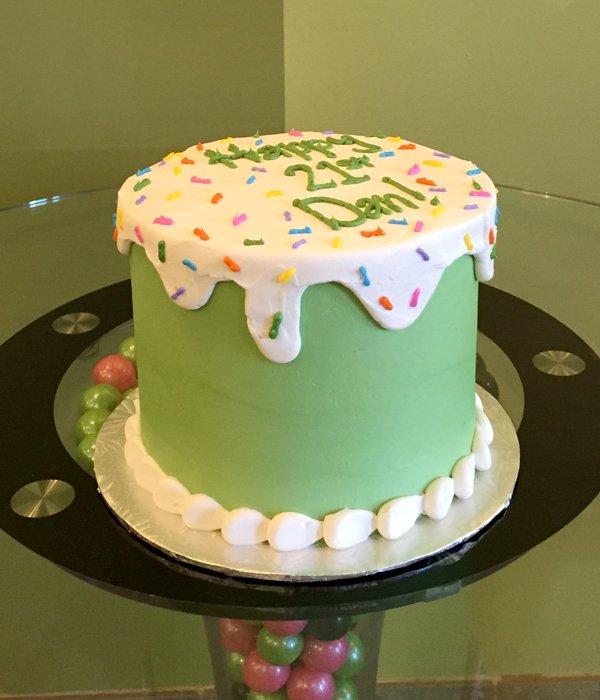 Ice Cream Sprinkle Cake - Green