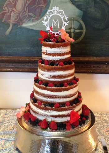 Naked Wedding Cake - 4 Layer