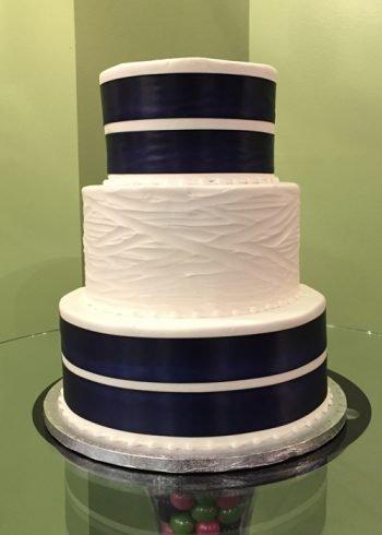 Ribbon Wedding Cake - Double