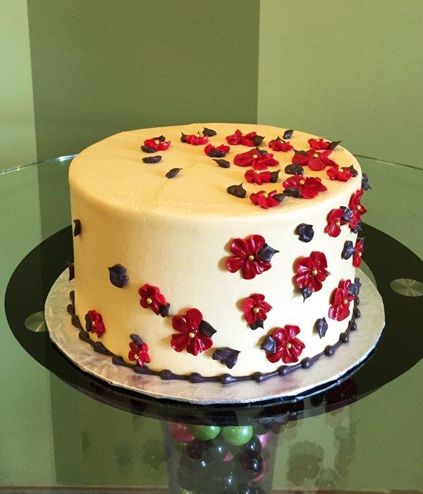 Sweet Flower Layer Cake Classy Girl Cupcakes