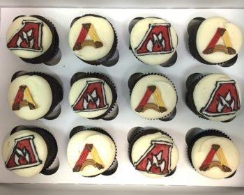 School Logo Cupcakes - Alverno College