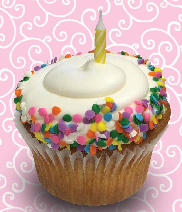 Birthday Cake Jumbo Filled Cupcake Classy Girl Cupcakes