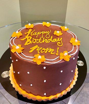 Drop Flower Layer Cake - Chocolate