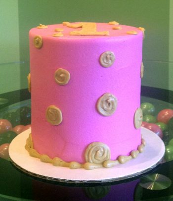 Alice Layer Cake - Pink & Gold