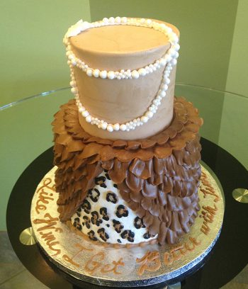 Barbette Tiered Cake - Brown