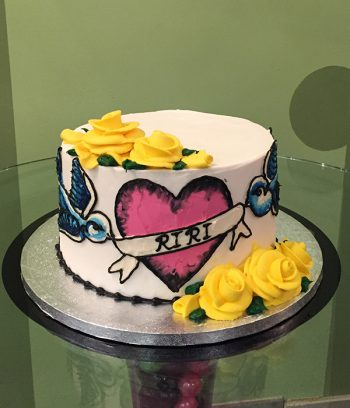 Kat Tattoo Layer Cake - Yellow