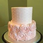 Rosette Dot Tiered Cake