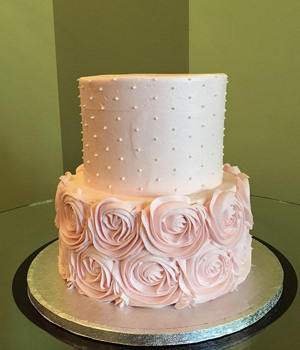 Two Tier Round Wedding Cakes