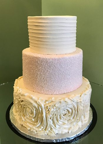 Lisette Wedding Cake - Ivory Blush